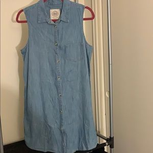 So Denim sleeveless dress.